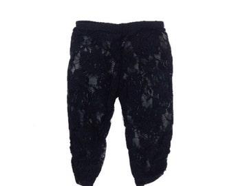 Baby Lace Leggings, Stylish Leggings, Soft Leggings, Elegant Leggings, Black Lace Leggings, Flower Lace Leggings, Photo Prop