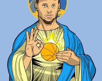 Basketball Jesus Print