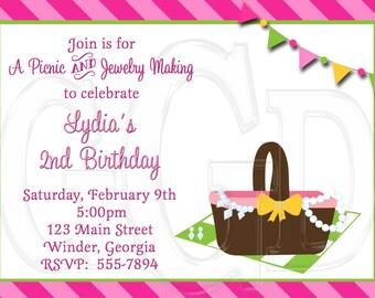 Picnic Invite Jewelry Party-Digital File