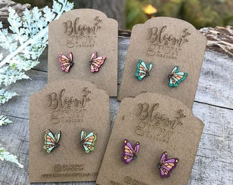 Stud Earrings - Butterfly