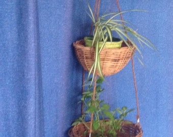 Hanging planter, hanging rattan baskets, pots Wicker garden basket