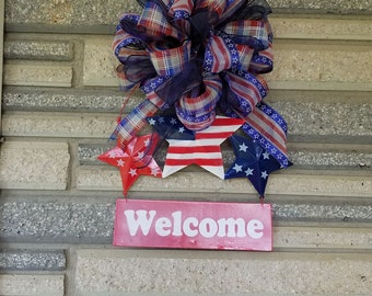 Independence Day, 4th of July, Door hanger