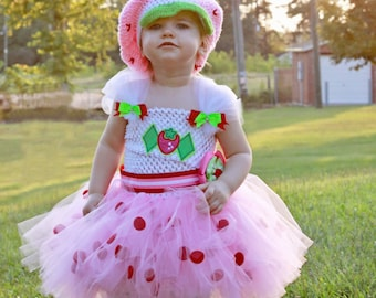 Strawberry Shortcake inspired tutu dress