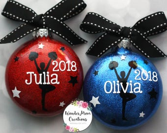 Cheerleader Christmas Ornament; Personalized Cheerleader Team Ornament; Cheer Team Christmas Ornament; High School Cheer Christmas Gift