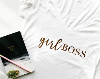 Girl Boss, girls rock, girl empowerment, inspirational tee, boss tee, boss gift, boss, boss lady, christmas gift, birthday gift, girl power