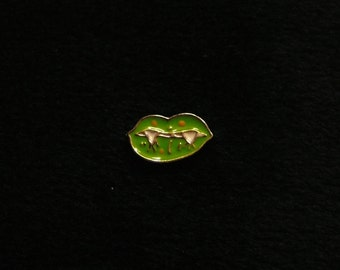 Green Monster Mouth floating charm fits Origami Owl lockets