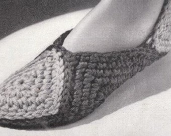 Crochet Slippers Pattern Motif Slipper Shoes PDF Instant Download
