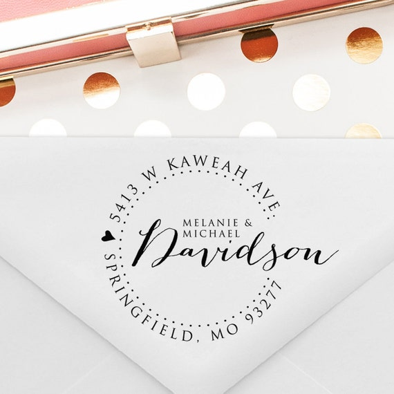 Return Gifts For Wedding Anniversary: Custom Return Address Stamp Wedding Gift Anniversary Gift