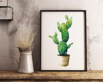 watercolor cactus print succulent watercolor cactus art cactus painting desert plant watercolor painting cactus wall decor