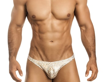Gold Foil Men's Erotic Gstring Underwear by Vuthy Sim - 456