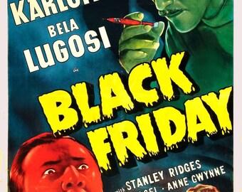 Black Friday Movie Boris Karloff Horror Film Poster Print Art Picture A3 A4