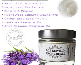 Natural Anti-aging FACE CREAM with Polypeptides & AHA, Organic Anti-wrinkle Face Cream, Deep Wrinkle Face Cream, Natural Skin Care