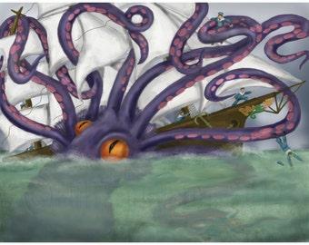 The Kraken Print