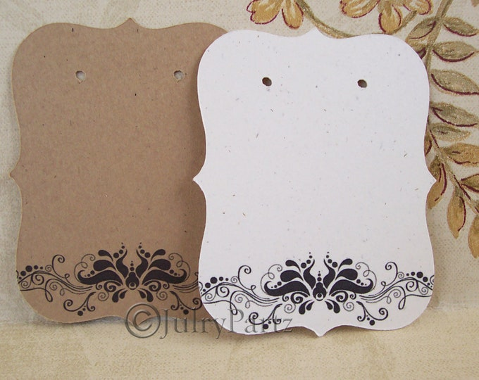 64•VERONICA Floral•Earring Cards•Jewelry Cards•Display Card•Earring Display•Earring Holder