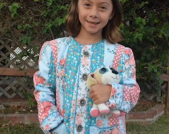 Little Girl's Jelly Roll Quilted Jacket
