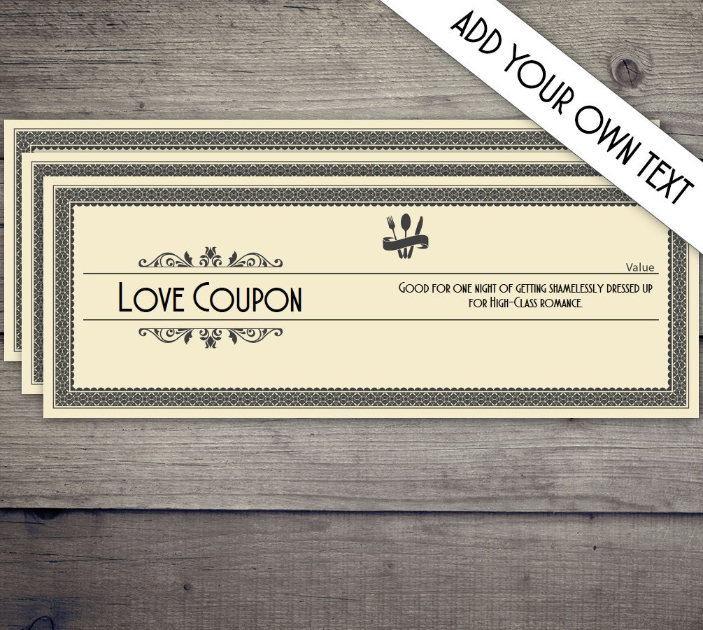 Coupon book coupon template love coupon date night coupon for Date night gift certificate templates