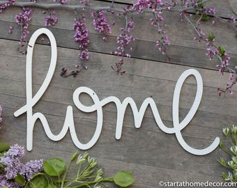Home Typography Word Cutout | MDF word sign | Typography | Start at Home Decor
