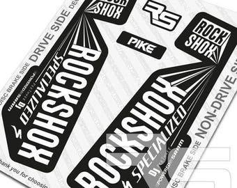 RS Style Pike DJ Edition Rockshox Pike DJ Decal Kit