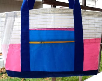 Windsurfing sail tote #4 - repurposed and waterproof