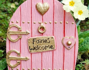 Pink Fairy Door Large. All Fairies Welcome. Perfect Indoor or Out.  Invite the fairies to your home or garden.