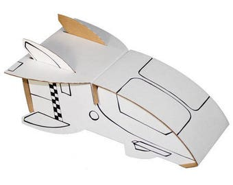 Shuttle to build and color with 6 pens included / creative Kit DIY construction paper and coloring / child birthday