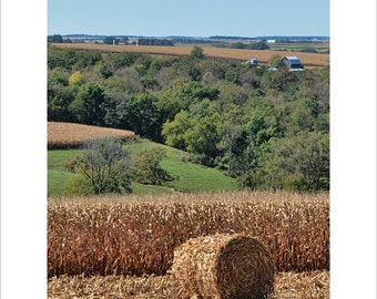 Autumn Harvest, Southern Minnesota, Lanesboro, Round Bale
