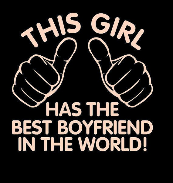 This Girl Has The Best Boyfriend in the World Unisex T-shirt.