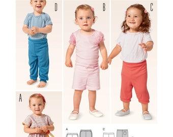 Burda Kids 9386 Size 3 Months - 3 Years Girl's / Boy's / Toddler's Shorts or Pants Sewing Pattern / Uncut FF