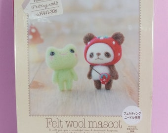Hamanaka - Needle Wool Felt Frog & Panda DIY Kit