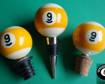 Number 9 Pool/Billiards Ball Wine Bottle Stopper