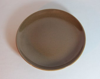 Russel Wright Iroquois Bread Plate in Nutmeg Brown