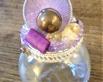 Wishes Jar Violet, hand-decorated jar