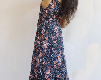 FLAMINGO dress: long with flowers
