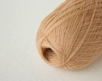 Soft wool for Haapsalu shawls, Merino wool, Cobweb light beige-cream color wool yarn - haapsalu shawl yarn