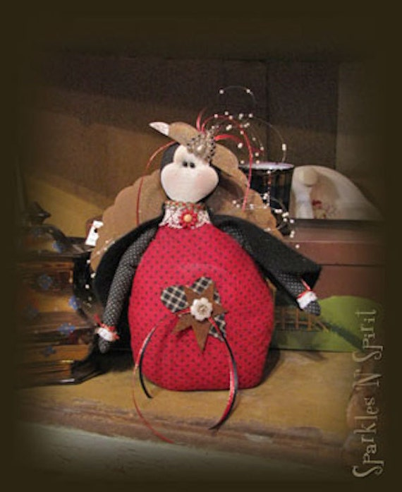 "Pattern: Lady A Bugg - 10"" Lady Bug"