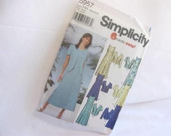 Sewing Pattern Simplicity 5957 Sleeveless Dress and Matching Jacket