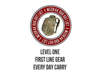 Every Day Carry List Level One EDC Checklist First Line Gear List Downloadable Content Survival Prepping