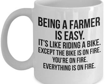 Farmer Gift, Farmer Mug, Gift For Farmer, Personalized Farmer, Funny Farmer, Coffee Mug, Country mug, Farmer, Farming, Farmer present