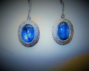 Kyanite Earrings sterling silver