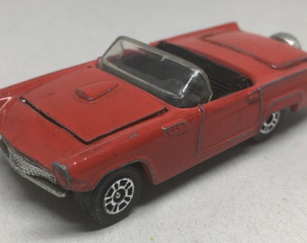 Vintage Ford Thunderbird Corgi Toys Red Diecast Convertible