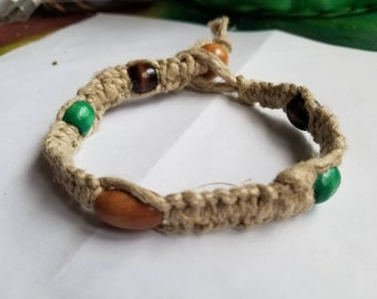 Thick natural hemp bracelet