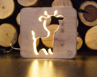 Nightlight for children Goat. Night light lamp baby. Table lamps for bedroom. Сhildrens nightlight.  Nursery projector light kids gift