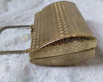 Vintage Walborg Gold Metal Purse