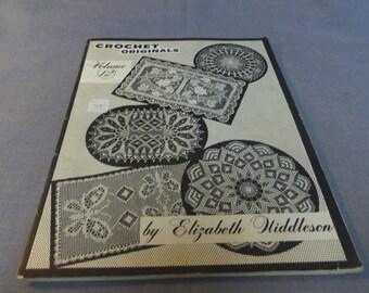 Elizabeth Hiddleson Crochet Originals, Vol. 12, Doilies, Home Decor, Thread Crochet 1964