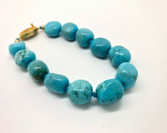 Vintage turquoise bracelet, c. 1960