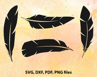 Feather SVG File | Feather Cut File | Feather studio | Feather Dxf | Feather Vector | Feather Svg | Feathers Clipart | Instant Download