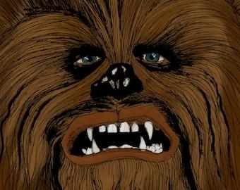 Chewbacca Print