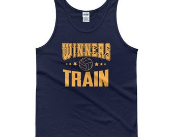 Winners Train Volleyball Tank Top - Volleyball Shirts - Shirts for Men - Shirts for Women - Volleyball Bag - Workout Tank - Workout Clothing