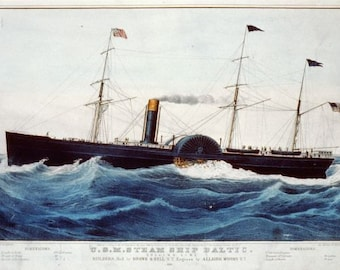 US Mail Steamer 'Baltic' reproduction of Currier & Ives Print