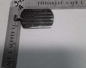 10%OFF3DAYSALE Silver toned American flag pendant used